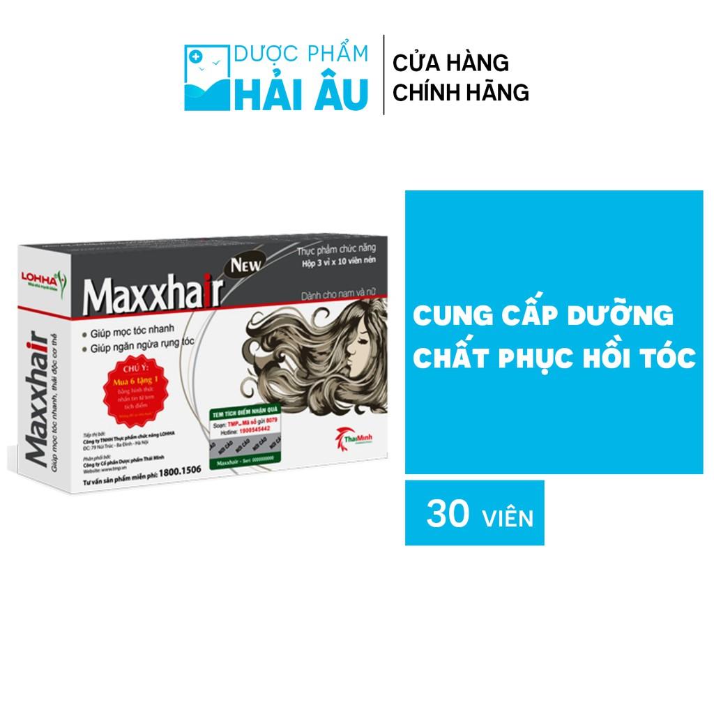 Thực phẩm chức năng Maxxhair cung cấp dưỡng chất phục hồi tóc hộp 30 viên hàng chính hãng