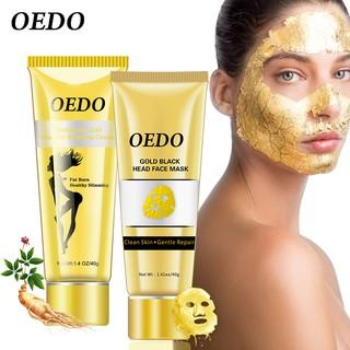 Bộ kem giảm mỡ OEDO chứa nhân sâm và axit hyaluronic + Mặt nạ vàng lột mụn đầu đen làm sạch sâu dưỡng trắng giữ ẩm thumbnail