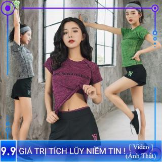 Set Bộ Đồ tập Thể thao Nữ phong cách mới 2019, chất liệu mỏng thoáng, quần áo tập Gym, Yoga, aerobic, chạy bộ SP018