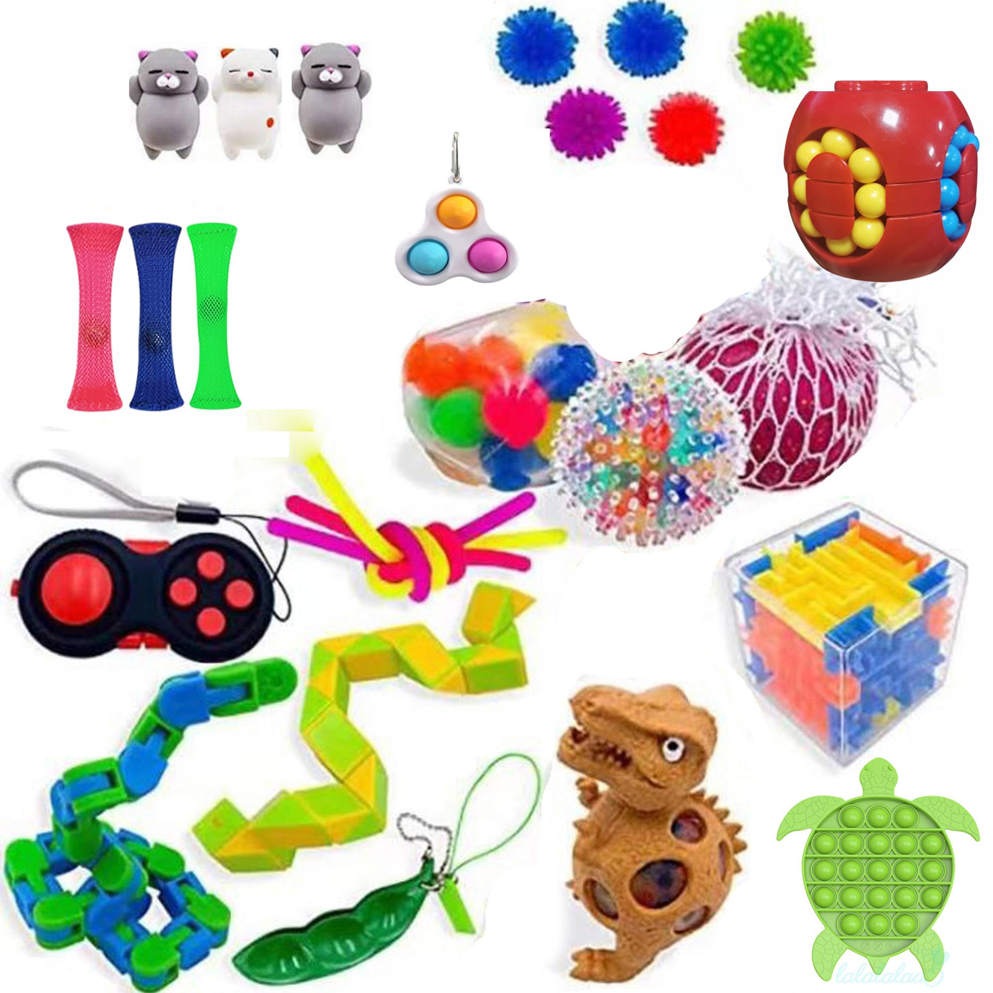 LL5-Cube Top Toy Set, Autism Needs Stress Reliever Anxiety Relief Toys, Special Toys Assortment for Birthday Party