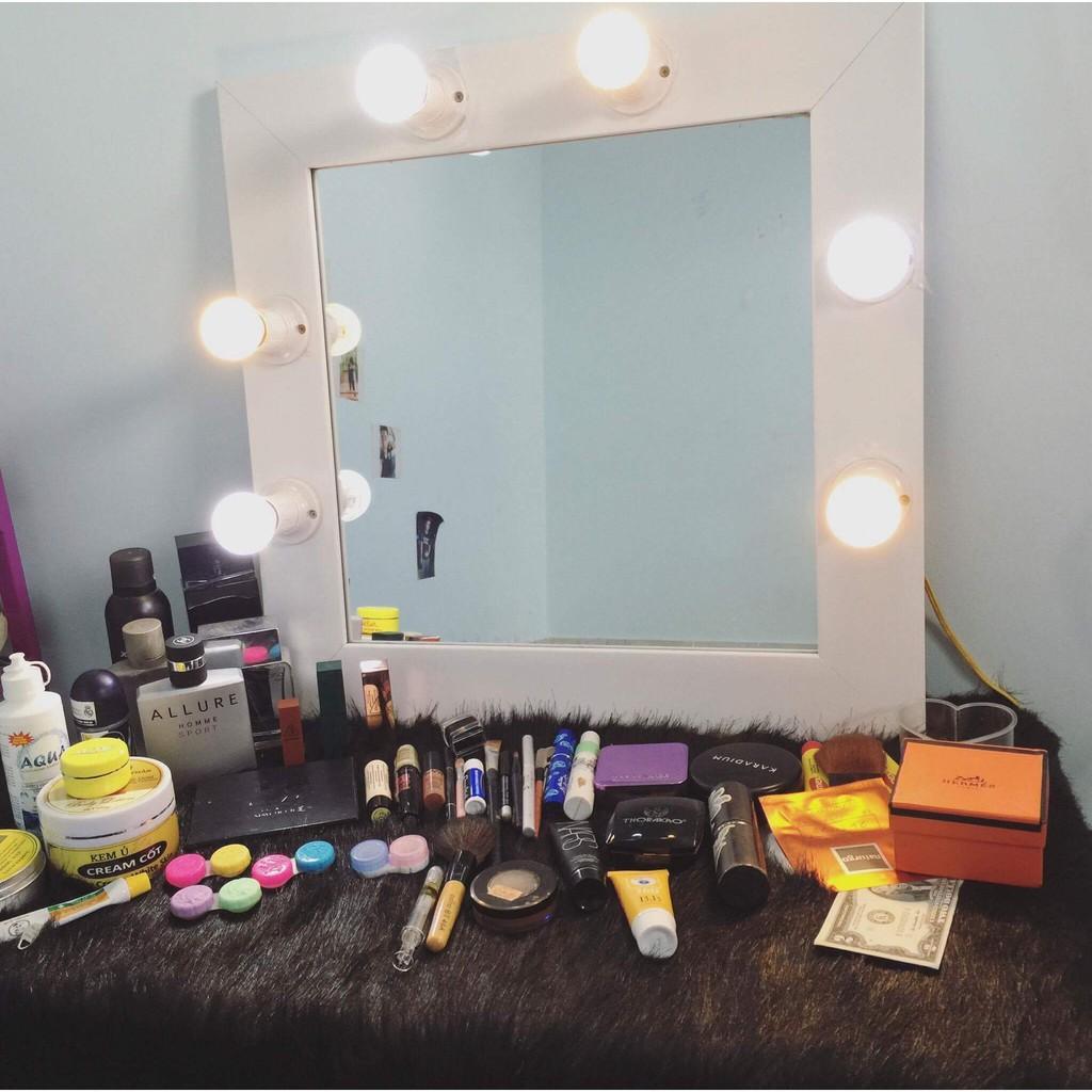 Thảm lông Màu Trắng trải bàn trang điểm  - Thảm chụp mỹ phẩm , nail