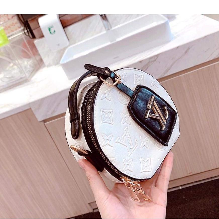 Túi tròn mini túi đeo chéo nữ dập họa tiết thời trang SILY TRONLV02
