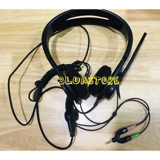 Cáp gộp audio và mic 3.5mm   Jack chia chữ U 3.5mm 1 ra 2 cổng cho tai nghe và micro