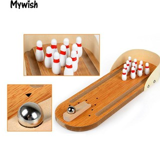 Lovely Wooden Mini Bowling Table Top Hand Game Child Educational Toys Gift
