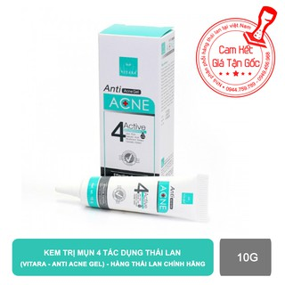 Kem Trị Mụn 4 Tác Dụng Vitara Anti Acne Gel - BER25 (10g)