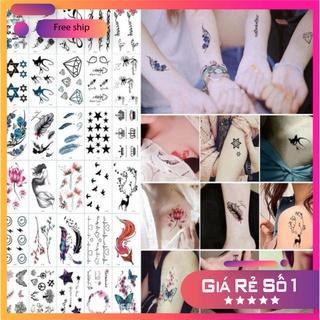 [Hottrend 2020] Combo 30 Hình Xăm Dán Flash tatoo Xăm Nước stickers phong cách Hàn Quốc đẹp dễ thương siêu cute giâ rẻ p