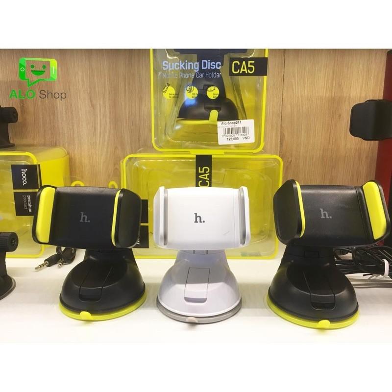 Kẹp điện thoại hút chân không trên xe hơi HOCO CA5 -Hàng phân phối chính hãng