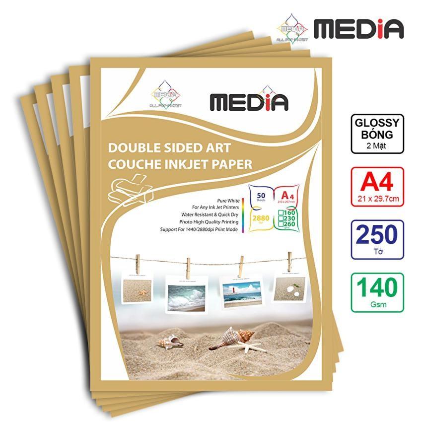 Bộ 5 Xấp Giấy In Ảnh Media 2 Mặt Bóng A4 140gsm 50 Tờ x 5 - 10034545 , 183659446 , 322_183659446 , 295000 , Bo-5-Xap-Giay-In-Anh-Media-2-Mat-Bong-A4-140gsm-50-To-x-5-322_183659446 , shopee.vn , Bộ 5 Xấp Giấy In Ảnh Media 2 Mặt Bóng A4 140gsm 50 Tờ x 5
