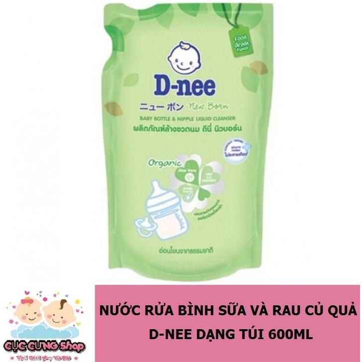 Nước rửa bình sữa Dnee Organic 600ml - Mẫu Mới 2019