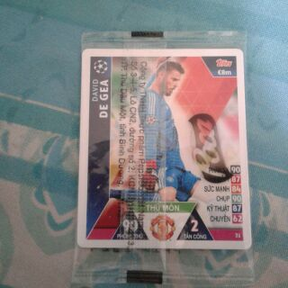 Thẻ poca (topps match attax) David De Gea