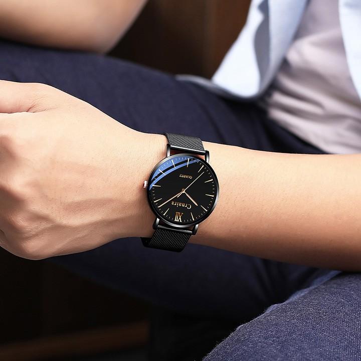 Đồng hồ nam Crnaira Japan dây thép mành cao cấp siêu mỏng