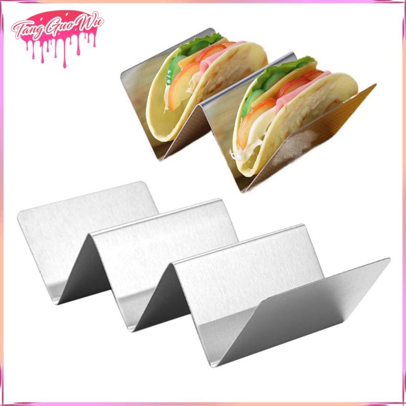 Giá Đỡ Taco Bằng Thép Không Gỉ Cho Lò Nướng Bánh Taco