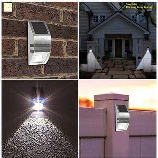 Đèn Led chiếu sáng treo tường, hiên nhà, cổng nhà sử dụng cảm biến chuyển động nguồn năng lượng mặt trời