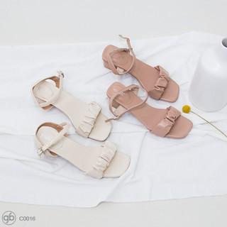 [Mã FASHIONRNK giảm 10K đơn 50K] Giày Cao Gót Quai Ngang Khóa Cài Cao 3 cm C0016 thumbnail