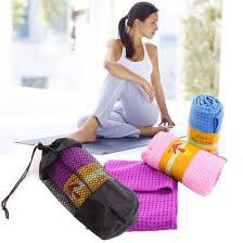 Khăn tập yoga tím _ Queensport