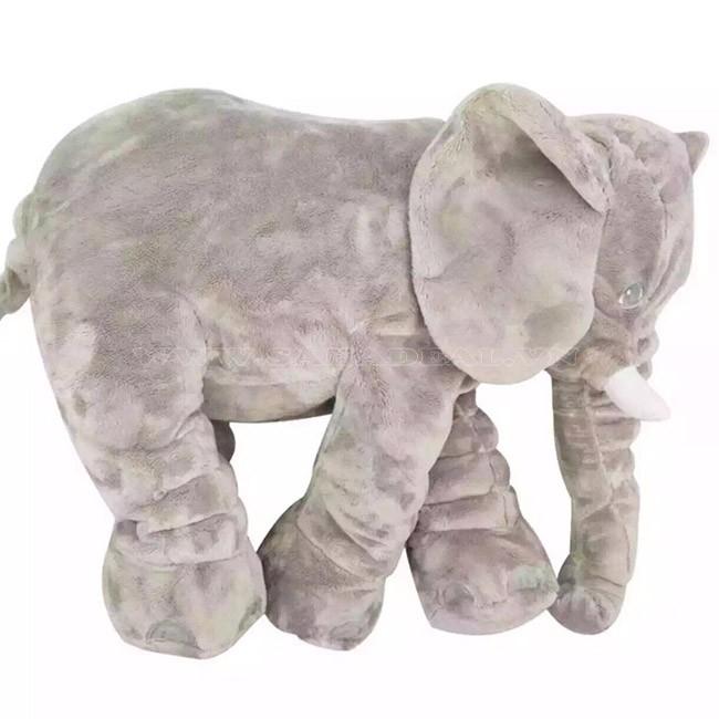 Thú nhồi bông voi xám khổng lồ cho bé yêu