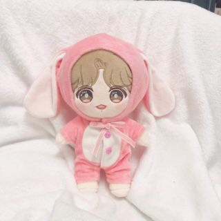[Outfit Doll] Doll 20cm, outfit thú thỏ hồng