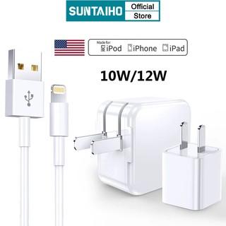 Củ Sạc/ Cáp Sạc Nhanh SUNTAIHO Foxconn 8 Chip 12W Cổng Lightning Cho iPhone 12 Pro Max 12 mini / iPad