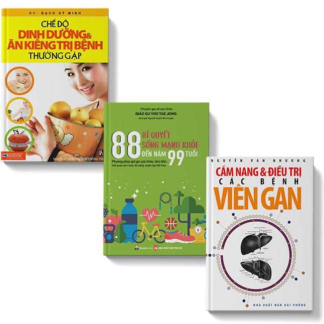 Sách COMBO 3 cuốn Cẩm nang phòng và điều trị bệnh viêm gan + 88 bí quyết sống mạnh khỏe + Chế độ dinh dưỡng ăn kiêng