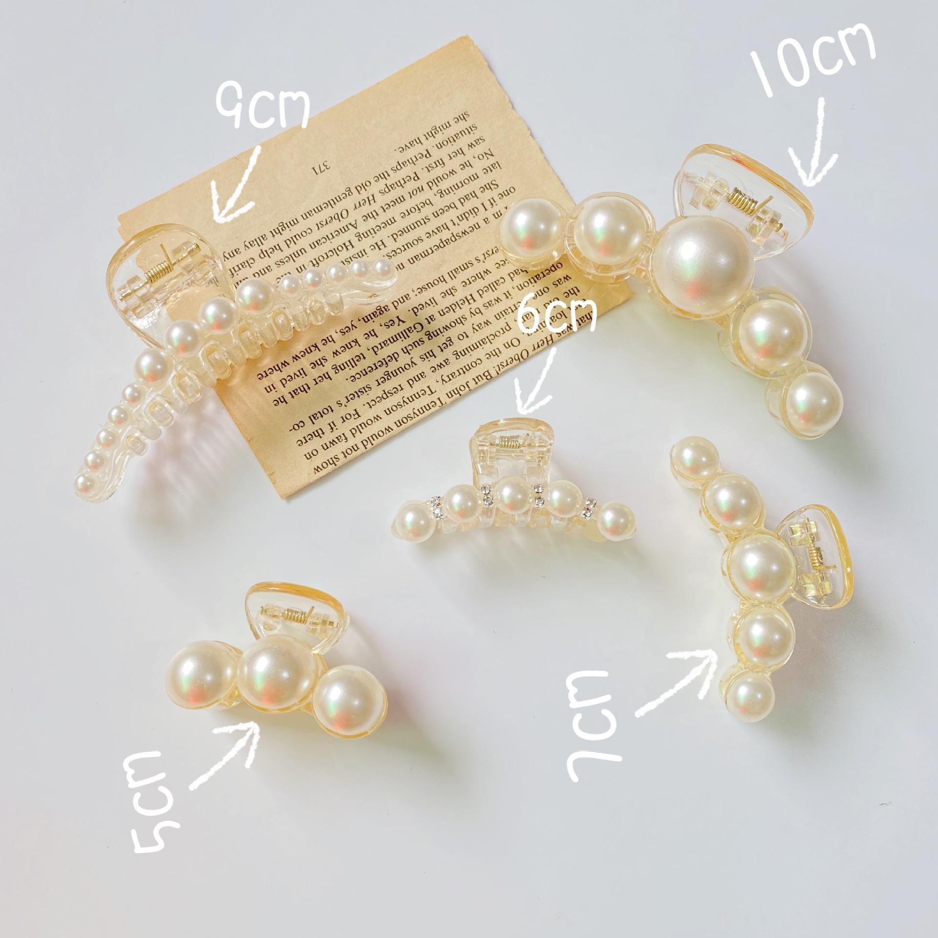 (Hàng Mới Về) 1 Kẹp Tóc Ngọc Trai Giả 13 Kích Cỡ Thời Trang Nữ