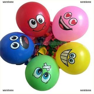 warmhome 10pcs lot Latex Balloons Printed Big Eyes Happy Birthday Party Decoration thro