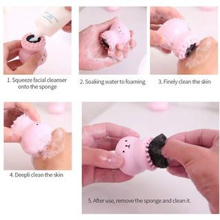 Hình ảnh Bạch tuộc hoạt hình Bàn chải làm sạch da mặt Hướng dẫn làm sạch da mặt-3