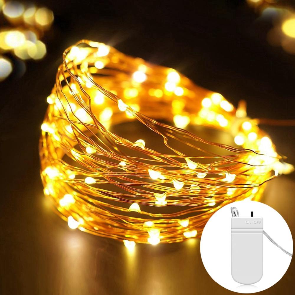 Dây đèn LED dài 1M/2M/3M/5M dùng để trang trí không gian mang lại sự ấm