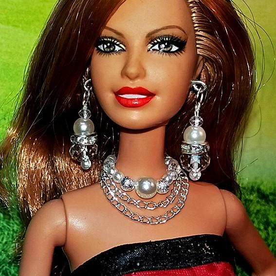 Bộ Trang Sức Búp Bê Barbie – Vòng cổ, Hoa Tai Búp bê Handmade Nguyên liệu Cao Cấp #2