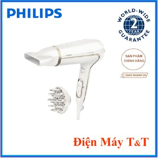 Máy sấy tóc ion bảo vệ tóc Philips HP8232, Thiết kế đẹp mắt với 2 đầu sấy cùng công suất cao 2200 W thumbnail