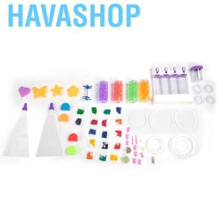 Havashop Cartoon Colorful Simulated Food DIY Pretend Birthday Party Cake Beads Fun Children Toy