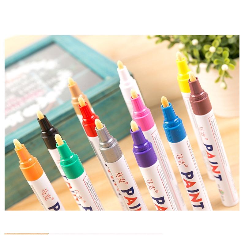bút lông màu trắng