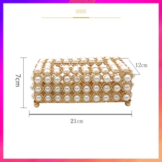 Luxurious Simulation Pearl Tissue Box Creative for Countertops Bedside Desks