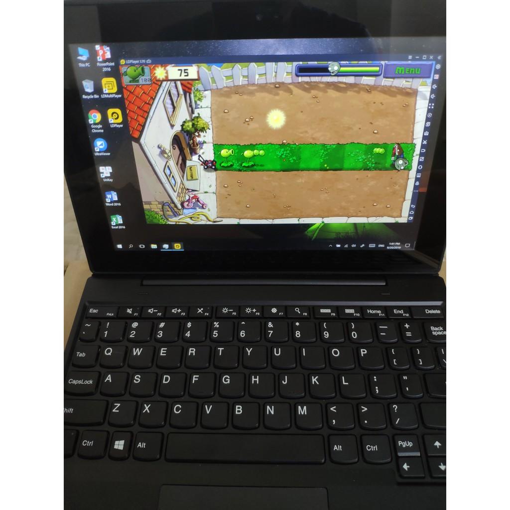 Laptop 2 trong 1 Lenovo Tablet 10 màn hình cảm ứng 10 inch 4GB RAM 128GB Likenew 99% đẹp như mới chơi mượt Liên Minh