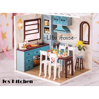Jos Kitchen – Nhà mô hình đồ chơi DIY ( TẶNG LỌ KEO 30ml , TẤM MICA)