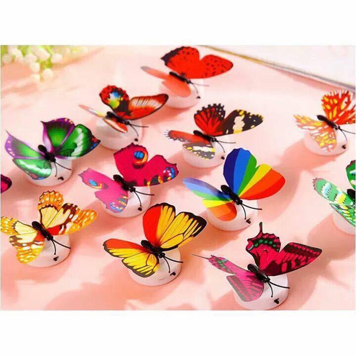combo 10 đèn led dán tường hình con bướm xinh xắn