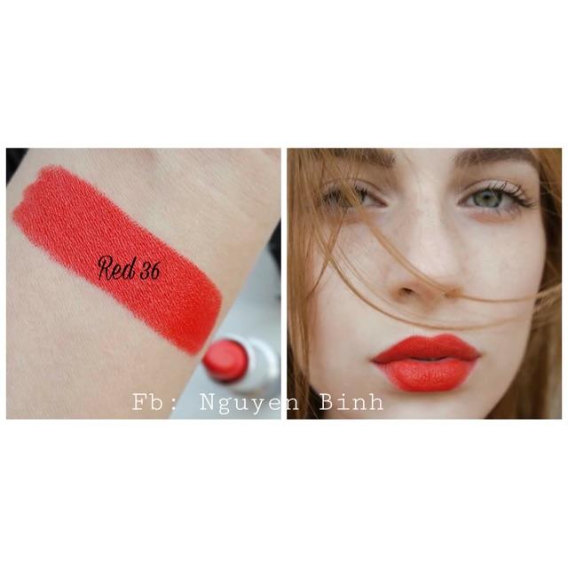 Màu khoáng làm son môi handmade (Red 36 - cam đỏ)