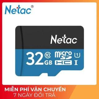 [Mã ELFLASH5 giảm 20K đơn 50K] Thẻ Nhớ Micro Sd Netac Blue 32Gb Cho Camera Wifi Class 10 UHS-1