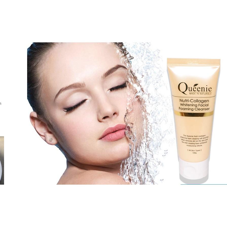 Sữa rửa mặt trắng da, bổ sung Collagen Queenie 100g | Shopee Việt Nam