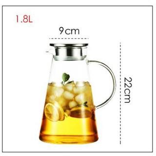 Ấm pha trà Deli  inox 1800ml,bình pha trà thủy tinh ,bình ủ trà cao cấp,bình đựng nước
