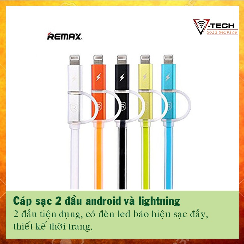 [Giá cực rẻ] - Cáp sạc thông minh Remax tích hợp 2 đầu cho điện thoại Android và Iphone - 2901721 , 440484994 , 322_440484994 , 96000 , Gia-cuc-re-Cap-sac-thong-minh-Remax-tich-hop-2-dau-cho-dien-thoai-Android-va-Iphone-322_440484994 , shopee.vn , [Giá cực rẻ] - Cáp sạc thông minh Remax tích hợp 2 đầu cho điện thoại Android và Iphone
