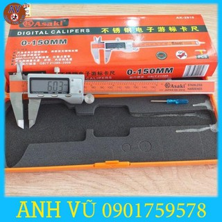Thước cặp điện tử INOX cao cấp 0-150mm Asaki