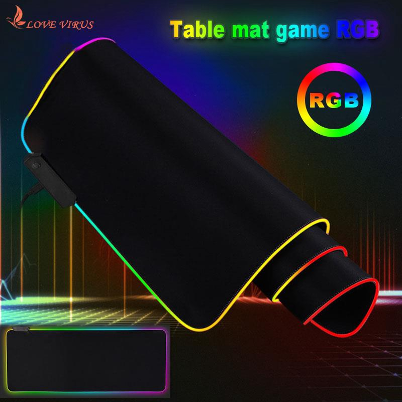 Extra Large Cushion Usb2.0 Mice Mat RGB Mouse Pad