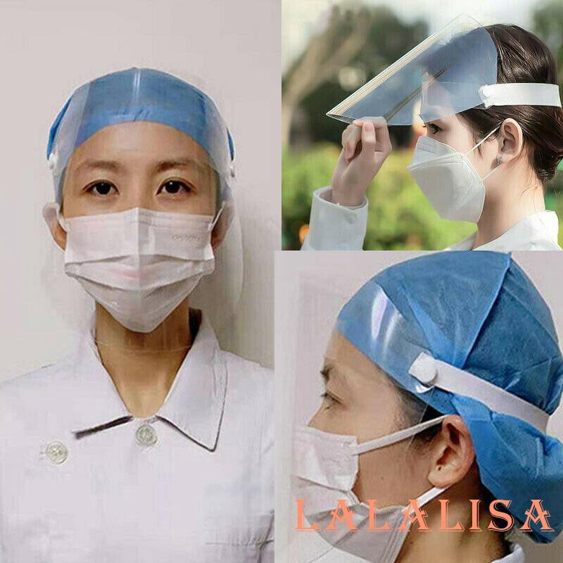 O-L❥Face Safety Face Shield Anti-Splash Isolation Protective Shield Cap