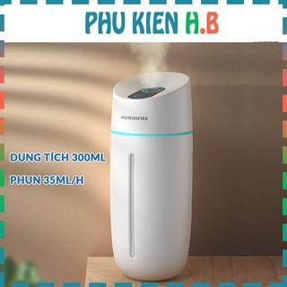Máy tạo độ ẩm phun sương Humidifier - làm ẩm không khí - khuếch tán xông tinh dầu - Dung tích 300ML - Phụ Kiện HB