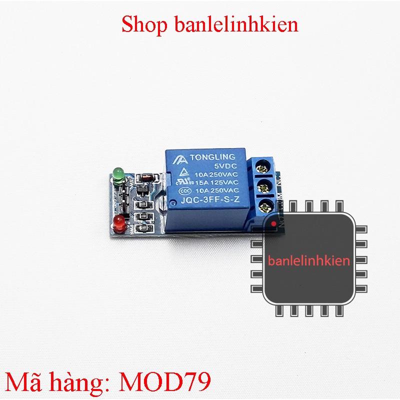 Module relay 5v 1 kênh đóng cắt mạch điện 250v 10A không cách ly quang