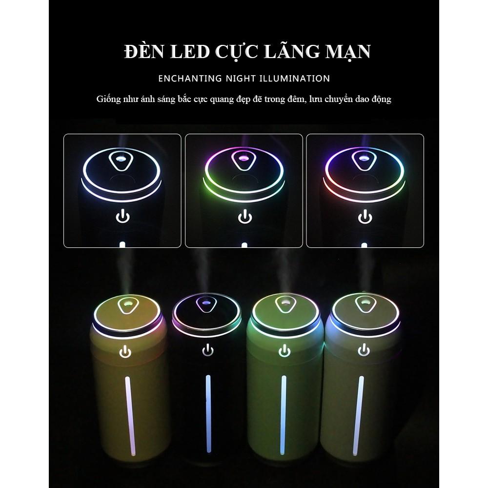 Máy tạo ẩm / Máy phun sương mini ML-BJG siêu đẹp không gây ồn có đèn led 2 chế độ tạo ẩm, tiện nghi, có cổng USB