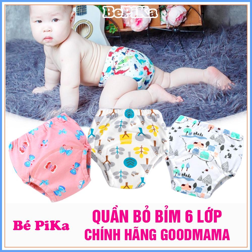 Quần bỏ bỉm Goodmama  6 lớp size 80/90/100/110 cho bé ( từ 6-