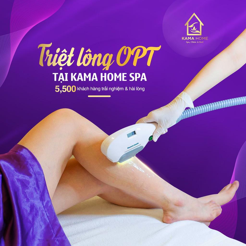Hồ Chí Minh [Voucher giấy]Trải nghiệm triệt lông công nghệ Opt mới nhất 2019 tại Kama Home Spa