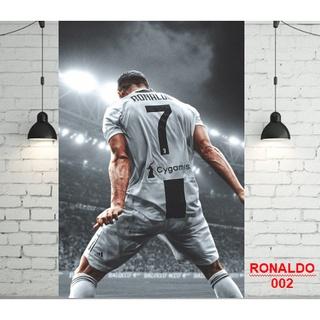 Decal poster cầu thủ Ronaldo – Messi – Neymar- Salah, clb bóng đá Mu – Barca – Chelsea -Real – Arsenal – Liverpool