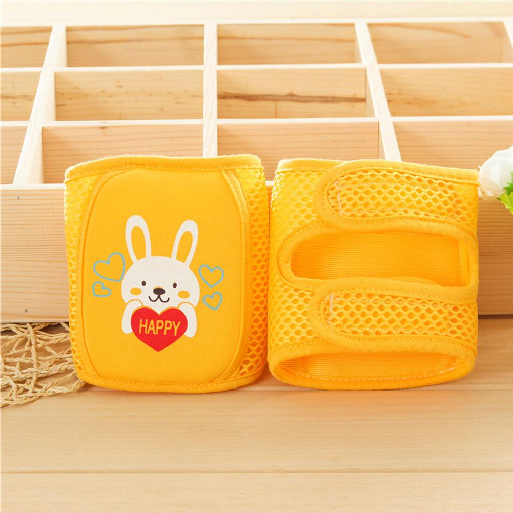 1 Pair Baby Safety Girls Cartoon Crawling Protector Sponge Sports Mesh Breathable Knee Pads Animal Print Unisex Cute